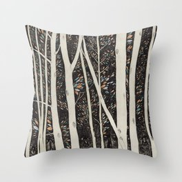 Forest Faces  Throw Pillow