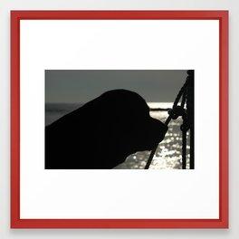 Oso thinking Framed Art Print