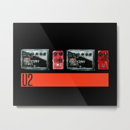 The Edge War Tour Pedalboard  Metal Print
