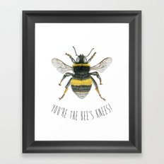 You're The Bee's Knees Framed Art Print