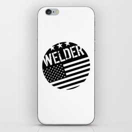 Welder: Black Flag (Circle) iPhone Skin