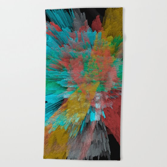 Abstract 123 Beach Towel