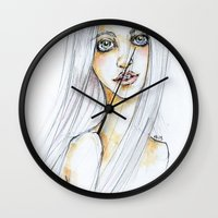 """transparent Wall Clocks featuring """"TRANSPARENT"""" by AB.13"""