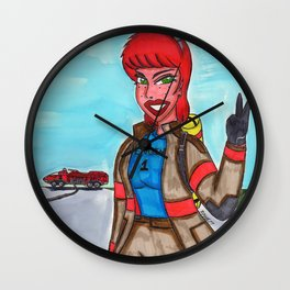 Fire Fighter Wall Clock