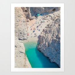 Seitan Limania Beach by Drone Art Print