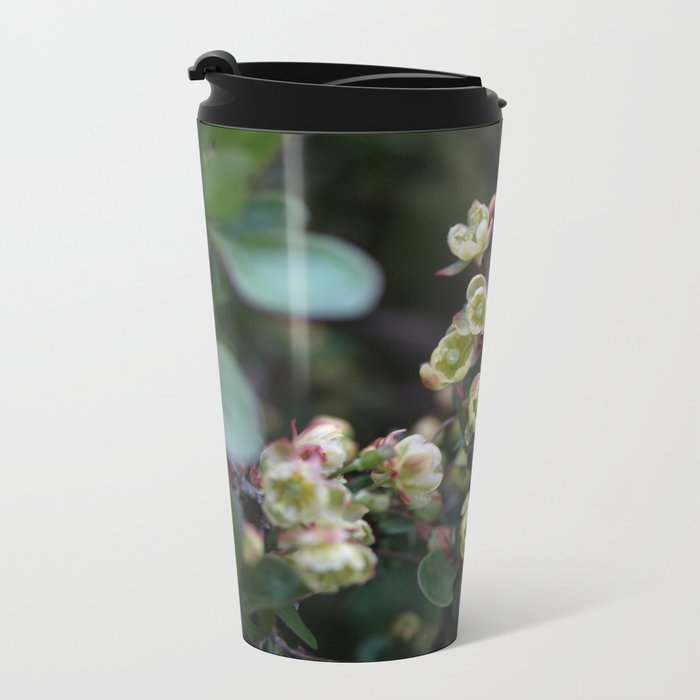 TINY FLOWERS OF A BERBERIS Metal Travel Mug