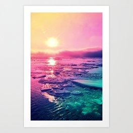 Pastel Sunset Waters Art Print