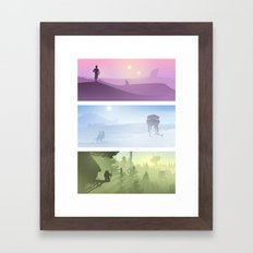 Planetscape Trilogy Framed Art Print