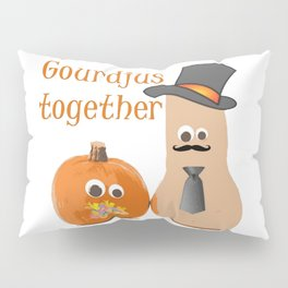 Gourdjus Together Cute Just Married Wedding Vector Pillow Sham
