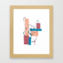 Rock on! (Hand Sign) Framed Art Print