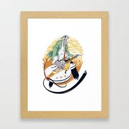 GRETSCH - White Falcon Framed Art Print