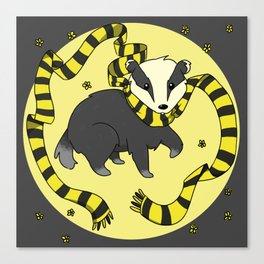 Hard Working Badger (gray) Canvas Print