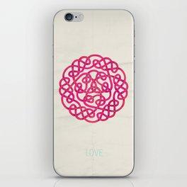 Love poster iPhone Skin