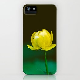 Yellow Flower Bud iPhone Case