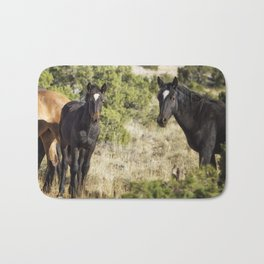 Family Resemblance - Orlando and Norma Jean - Pryor Mustangs Bath Mat