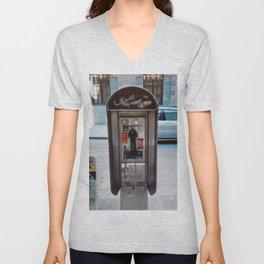 New York City Payphone Unisex V-Neck