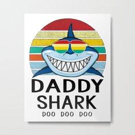 Doo Doo Doo Vintage Daddy Shark Metal Print
