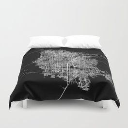 Las Vegas map Duvet Cover