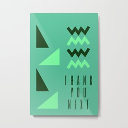 Green Triangles |  Thank U Next Ariana Metal Print