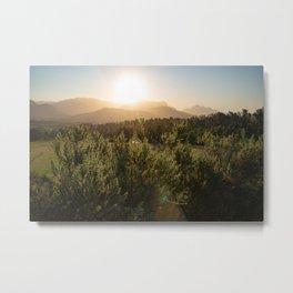African Mountains Sunset  Metal Print