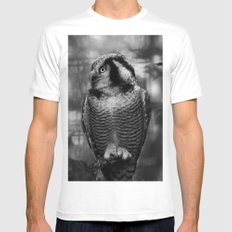 Owl series no.1 MEDIUM Mens Fitted Tee White