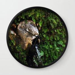 The Fountain Wall Clock