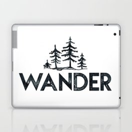 WANDER Forest Trees Black and White Laptop & iPad Skin