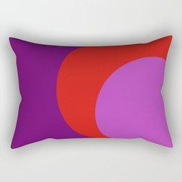 Cercle  violet orange Rectangular Pillow