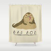 dad Shower Curtains featuring dad bod by Louis Roskosch