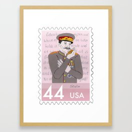 Dictators w/Pets: Joseph Stalin Framed Art Print