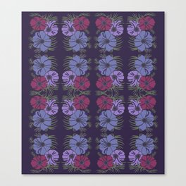 flower group mirrored Canvas Print