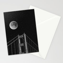 Full Moon Over Golden Gate Bridge San Francisco, California Stationery Cards