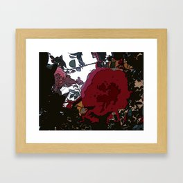 Abstract Roses Framed Art Print