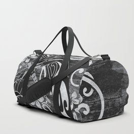 Hawaiian Black Dragon Fly Tribal Duffle Bag