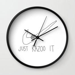 just kazoo it Wall Clock