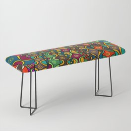 African Style No13, Tribal dance Bench