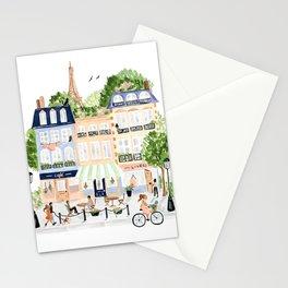 Parisian Buildings Stationery Cards