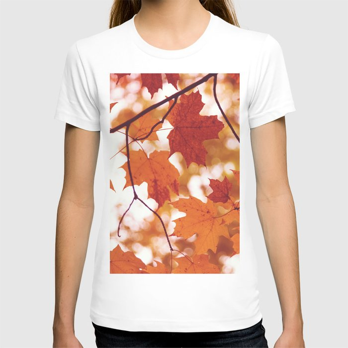 Fluttering from the Autumn tree T-shirt