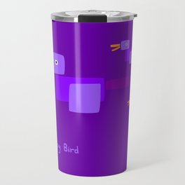 Happy Bird-Purple Travel Mug