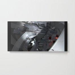 technocalyptictemple_02_monochromatic Metal Print