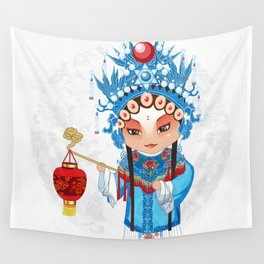 Beijing Opera Character GongNv Wall Tapestry