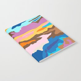 Shape and Layers no.19 - Abstract Modern Landscape Notebook