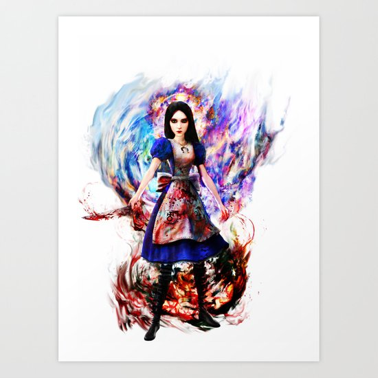 Alice madness returns Art Print