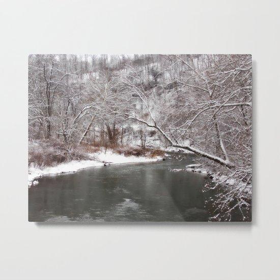 Frosty Creek Metal Print