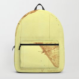 Venice, CA from 1923 Vintage Map - High Quality Backpack