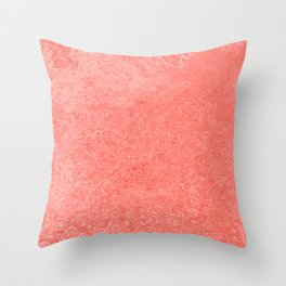 Living Coral - Color of the year 2019, Millennial Pink Grunge Ombre Pastel Texture Throw Pillow