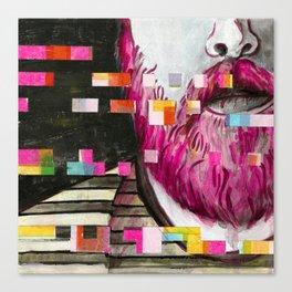 'Daniel' - Glitch Portrait Canvas Print