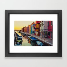 Burano Island VIII Framed Art Print