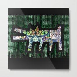 Pied Piper Matrix Dog Metal Print