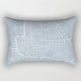 Baton Rouge Map, USA - Slate Rectangular Pillow